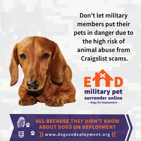 End Military Pet Surrender Online | Dogs On Deployment