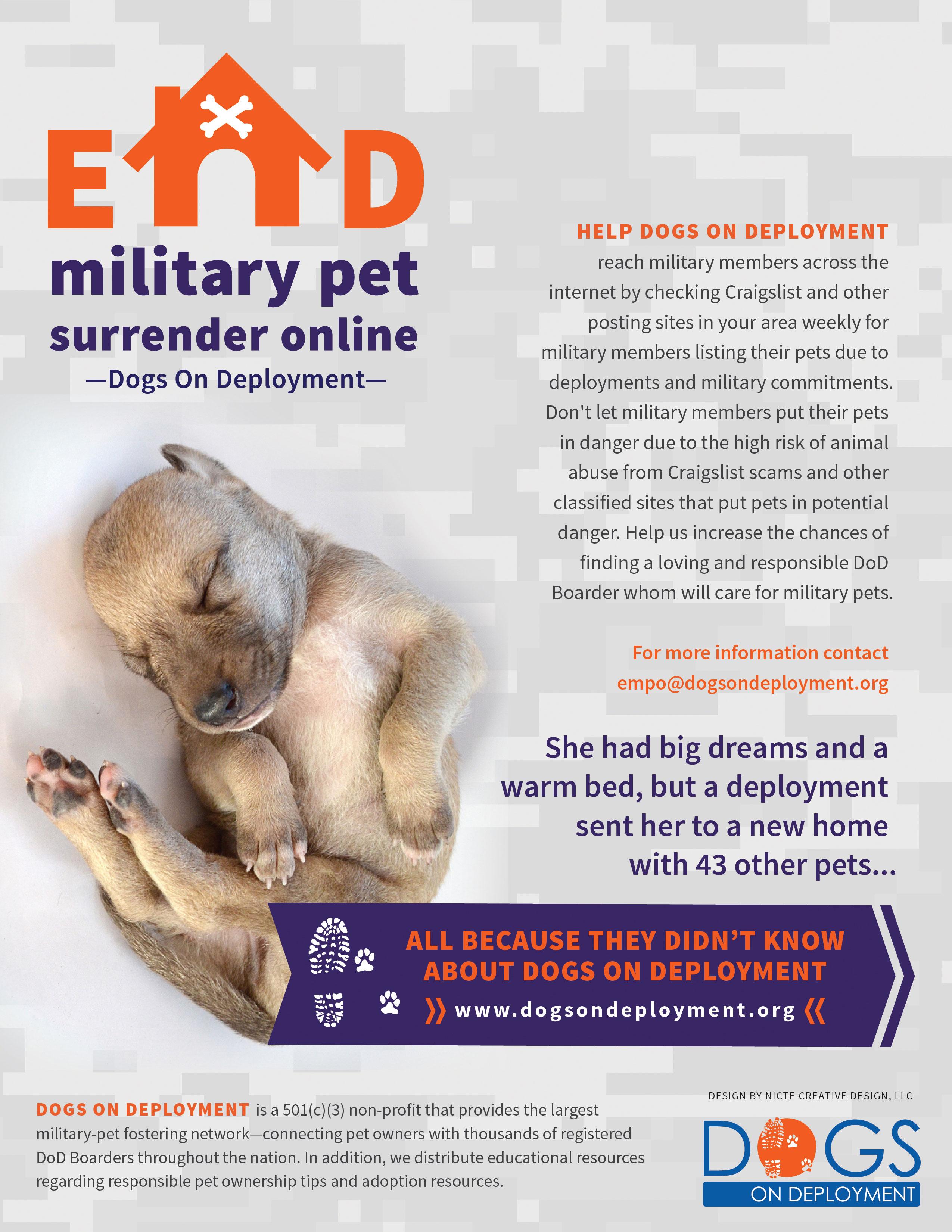Surrender Dog For Service Training